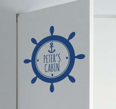 Personalised Sailor´s Cabin Sticker