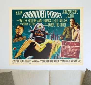 Forbidden Planet Film Poster Sticker