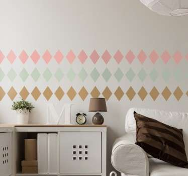 Pastel Diamond Border Sticker