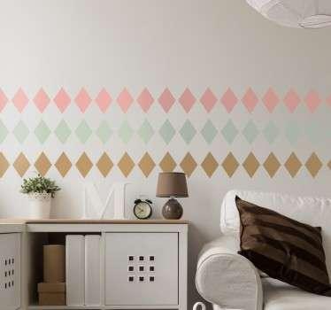 Decoratieve Muursticker Pastel Ruiten