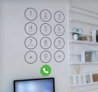 Iphone knappar vägg klistermärke