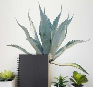 Sticker plante cactus polygonal