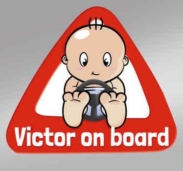 Personalized Baby on Board Sticker