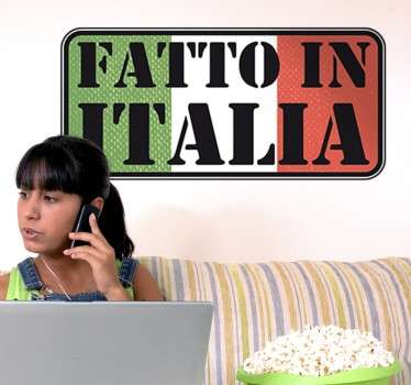 Sticker Decorativo Fatto in Italia
