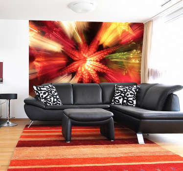 Photo Mural - Original photography in motion. Add colour to any room with this mural and its warm colours.