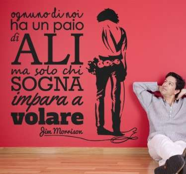 Wall sticker Frase Jim Morrison