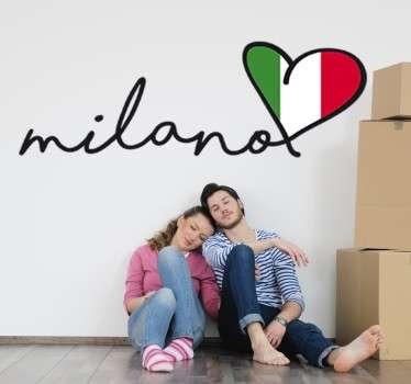 Milan Heart Sticker