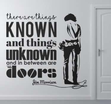 Vinil decorativo citação Jim Morrison