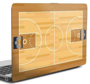 Naklejka na laptopa boisko do koszykówki