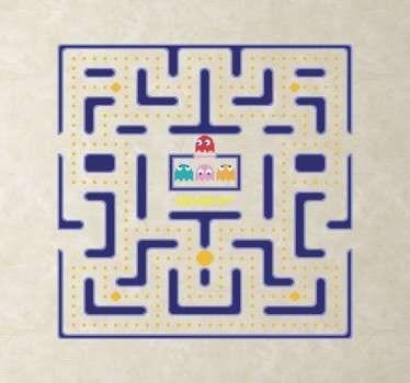 Sticker décoratif écran Pacman