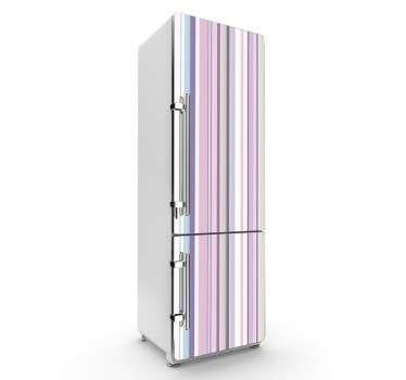 Naklejka na lodówkę różowe paski