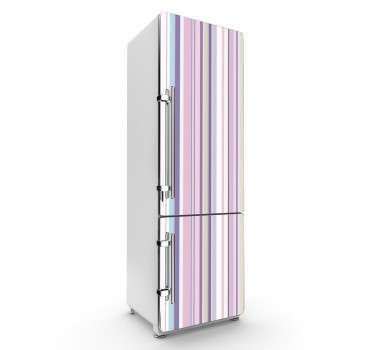 Vinil decorativo para frigorífico tons rosas
