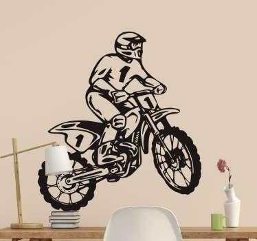 Motocross Fahrer Wandtattoo
