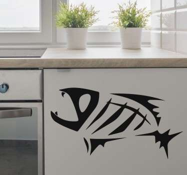 Fish Skeleton Sticker