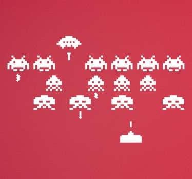 Vinilo decorativo pantalla space invaders