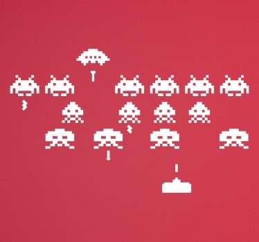 Adesivo decoraivo Space Invaders