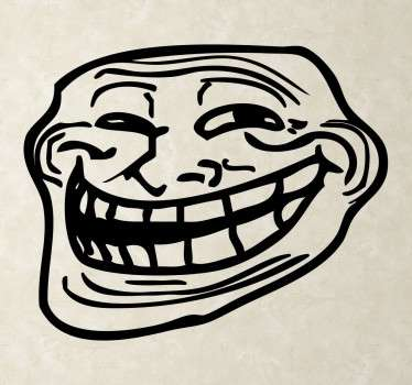 Troll face Muursticker