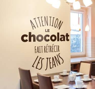 Sticker citation jeans chocolat
