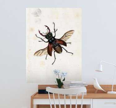 A unique and curious wall sticker with a painting of a fly, created by E. Donovan.