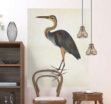 Mural for people who love the world of ornithology and reproductions of antique artwork.