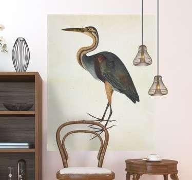 Autocolante ave garça real