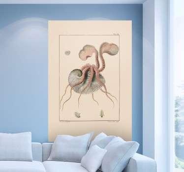 Antike Zeichnung Oktopuss Sticker