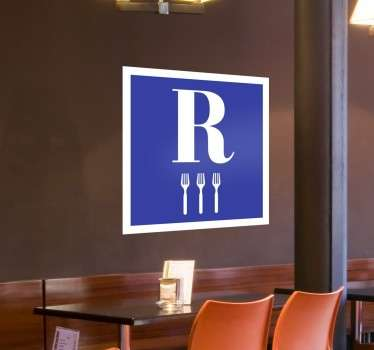 Sticker pour restaurant fourchettes