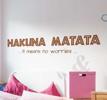 Vinil decorativo infantil Hakuna Matata