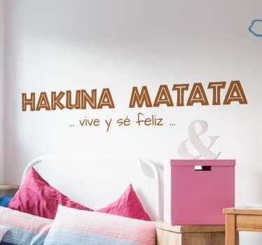 Vinilos decorativos infantiles con parte de la letra de esta reconocida canción del Rey León.