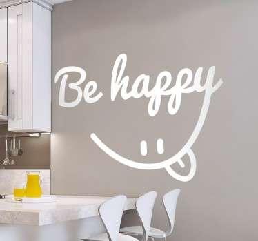 Be Happy Smile Muursticker