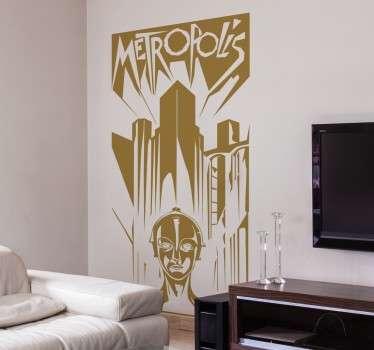 Adesivo decorativo poster Metropolis