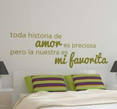 Vinilos para decoración con una romántica frase, ideales para renovar las paredes de tu dormitorio.