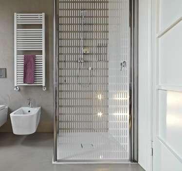 Adesivo linee box doccia