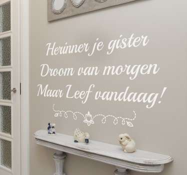 Quote Muursticker Leven