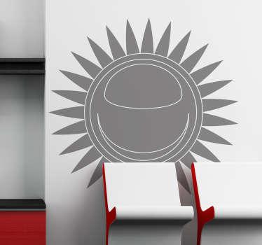 Sticker soleil monochrome