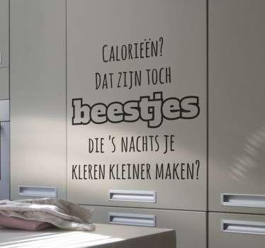 Muursticker Calorieën Maken Kleren Kleiner
