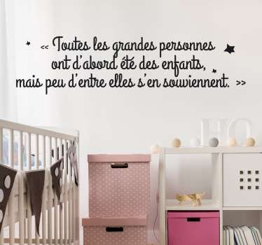 Stickers citation enfant tenstickers - Stickers pour chambre ado ...