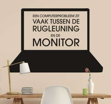 Muursticker Laptop Grap
