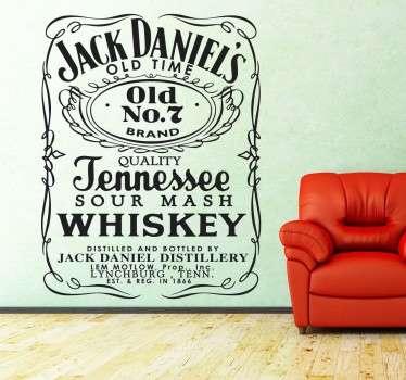 Jack Daniel's nº7 Wandtattoo
