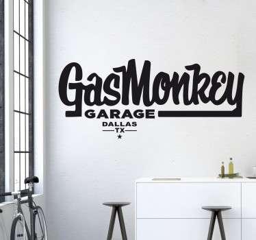 Gas Monkey Garage Wandtattoo
