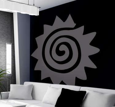 спиральная наклейка солнца