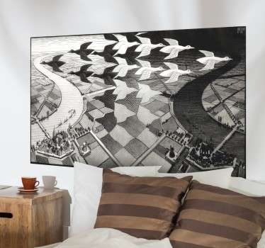 Escher Engraving Decorative Wall Mural