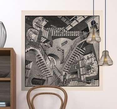 Vinilos decorativos con una fantástica imagen ilusoria creada por el genial artista holandés M.C Escher.