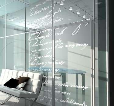 Decora ventanales o paredes con un extracto de texto escrito por Miguel de Cervantes Saavedra.