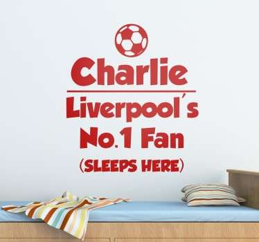 Personlig Liverpool fan wallsticker