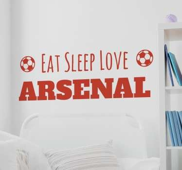 A football wall sticker for you to personalise with your own team's name. Are you an die- hard football fan?