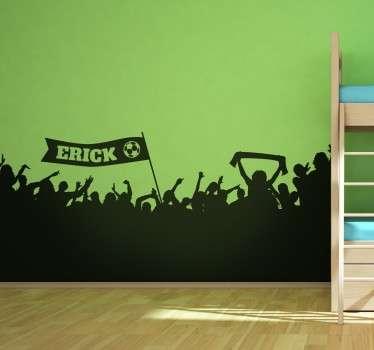 Wallstickers Fodboldfans væg