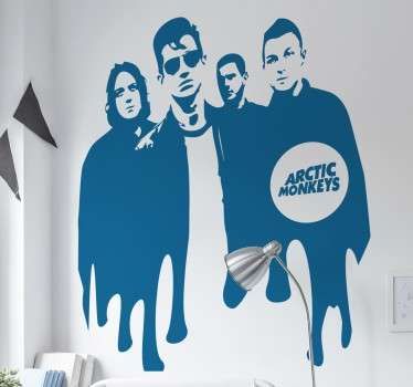 Vinilo decorativo retrato Arctic Monkeys