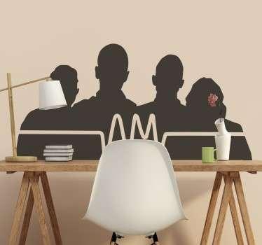 Arctic Monkeys Silhouette Wall Sticker