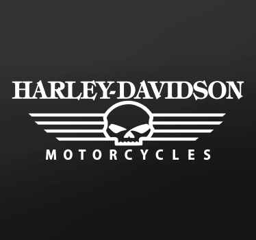 A sticker of the famous American luxury motorcycle brand Harley Davidson. Ideal for customising your motorbike or accessories.